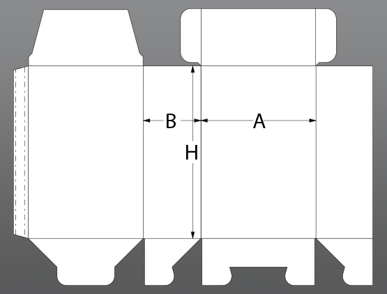 Folding box with wing closure